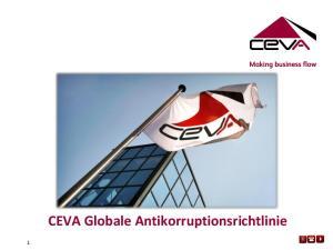 CEVA Globale Antikorruptionsrichtlinie