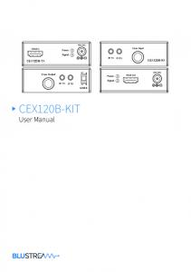 CEX120B-KIT User Manual