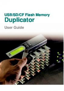 CF Flash Memory. Duplicator. User Guide