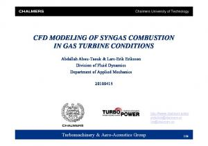 CFD MODELING OF SYNGAS COMBUSTION IN GAS TURBINE CONDITIONS