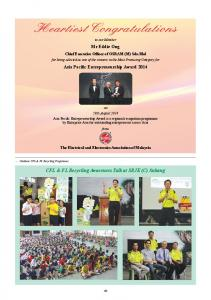 CFL & FL Recycling Awareness Talk at SRJK (C) Subang
