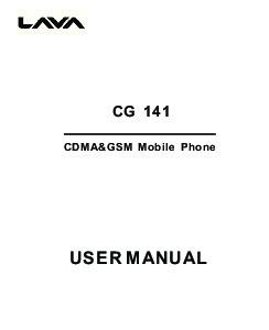 CG 141. GSM Mobile Phone USER MANUAL