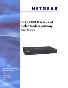 CG3000DCR Advanced Cable Modem Gateway