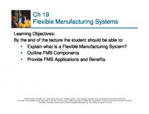 Ch 19 Flexible Manufacturing Systems