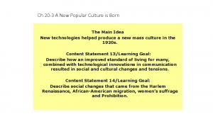 Ch 20-3 A New Popular Culture is Born