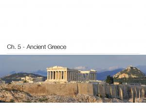 Ch. 5 - Ancient Greece