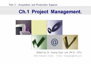 Ch.1 Project Management