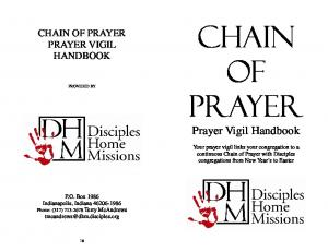 Chain Of Prayer. Prayer Vigil Handbook CHAIN OF PRAYER PRAYER VIGIL HANDBOOK