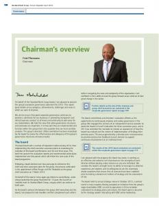 Chairman s overview. Fred Phaswana Chairman