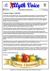 Chairman s Report - AGM 2016