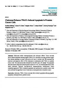 Chalcones Enhance TRAIL-Induced Apoptosis in Prostate Cancer Cells