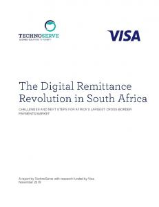 CHALLENGES AND NEXT STEPS FOR AFRICA S LARGEST CROSS-BORDER PAYMENTS MARKET