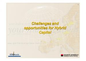 Challenges and opportunities for Hybrid Capital