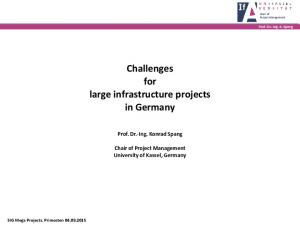 Challenges for large infrastructure projects in Germany