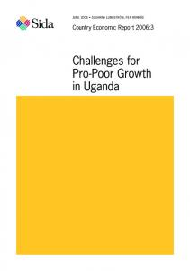 Challenges for Pro-Poor Growth in Uganda