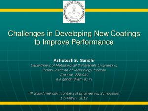 Challenges in Developing New Coatings to Improve Performance