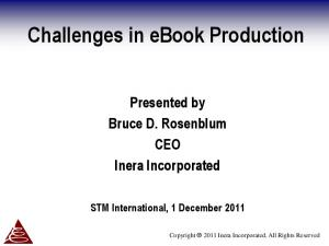 Challenges in ebook Production