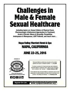 Challenges in Male & Female Sexual Healthcare