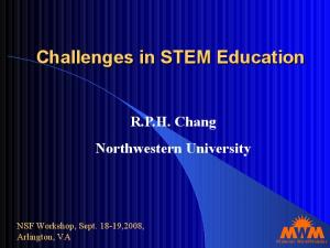 Challenges in STEM Education