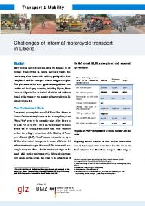 Challenges of informal motorcycle transport in Liberia