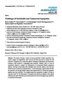 Challenges of Sustainable and Commercial Aquaponics