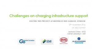 Challenges on charging infrastructure support