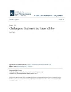 Challenges to Trademark and Patent Validity
