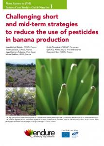 Challenging short and mid-term strategies to reduce the use of pesticides in banana production