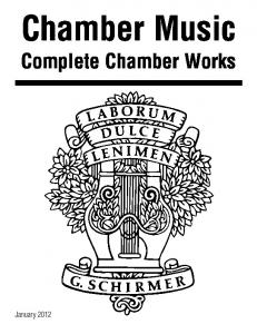 Chamber Music. Complete Chamber Works
