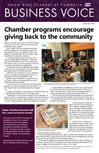 Chamber programs encourage giving back to the community