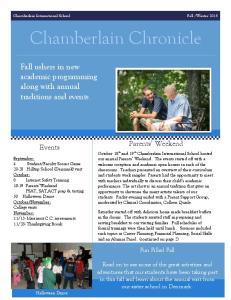 Chamberlain Chronicle