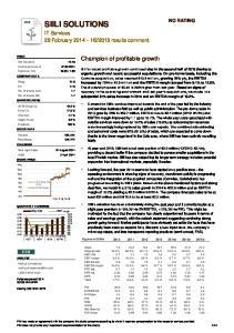 Champion of profitable growth