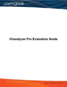 Chanalyzer Pro Evaluation Guide