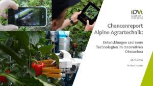 Chancenreport Alpine Agrartechnik: