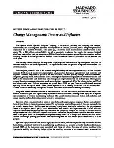 Change Management: Power and Influence