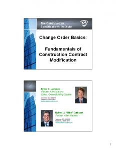 Change Order Basics: Fundamentals of Construction Contract Modification