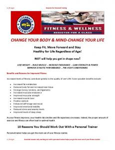 CHANGE YOUR BODY & MIND-CHANGE YOUR LIFE