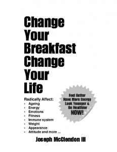 Change Your Breakfast Change Your Life