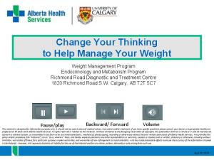 Change Your Thinking to Help Manage Your Weight
