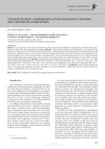 CHANGES IN BODY COMPOSITION AFTER ENDURANCE TRAINING AND TRIATHLON COMPETITION