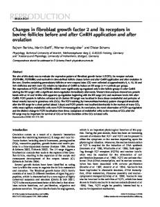 Changes in fibroblast growth factor 2 and its receptors in bovine follicles before and after GnRH application and after ovulation