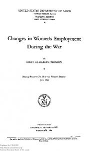 Changes in Women's Employment During the War