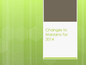 Changes to Marzano for 2014