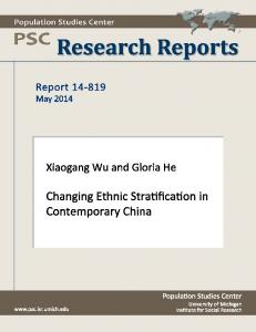 Changing Ethnic Stratification in Contemporary China