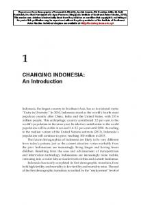 CHANGING INDONESIA: An Introduction