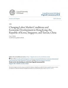 Changing Labor Market Conditions and Economic Development in Hong Kong, the Republic of Korea, Singapore, and Taiwan, China