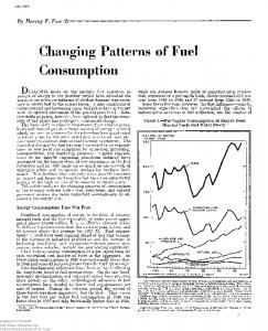 Changing Patterns of Fuel Consumption