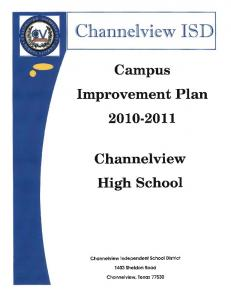Channelview ISD. Campus Improvement Plan Channelview High School. Channelview Independent School District
