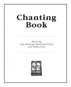 Chanting Book. Morning and Evening Chanting (Pþjæ) and Reflections