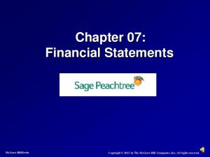 Chapter 07: Financial Statements